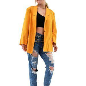 RADCLIFFE Vintage Marigold Long Boxy Blazer #BT2